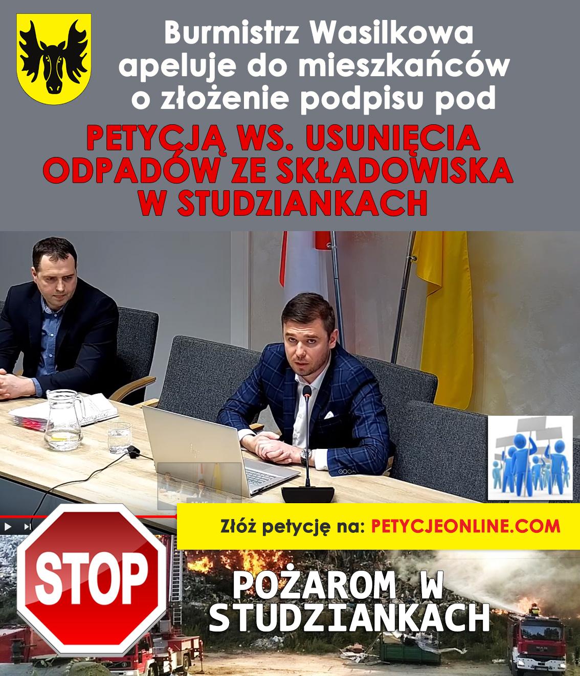 Petycja do marszałka województwa (Fot. UM Wasilków)