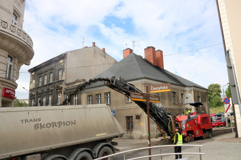 Śląskie: Rozpoczęła się budowa ronda na obrzeżu bielskiej starówki