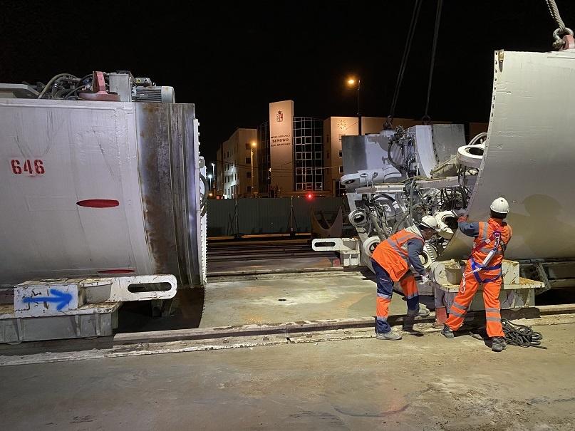 Transport tarcz odbył się w nocy z 14 na 15 maja (fot. UMW)