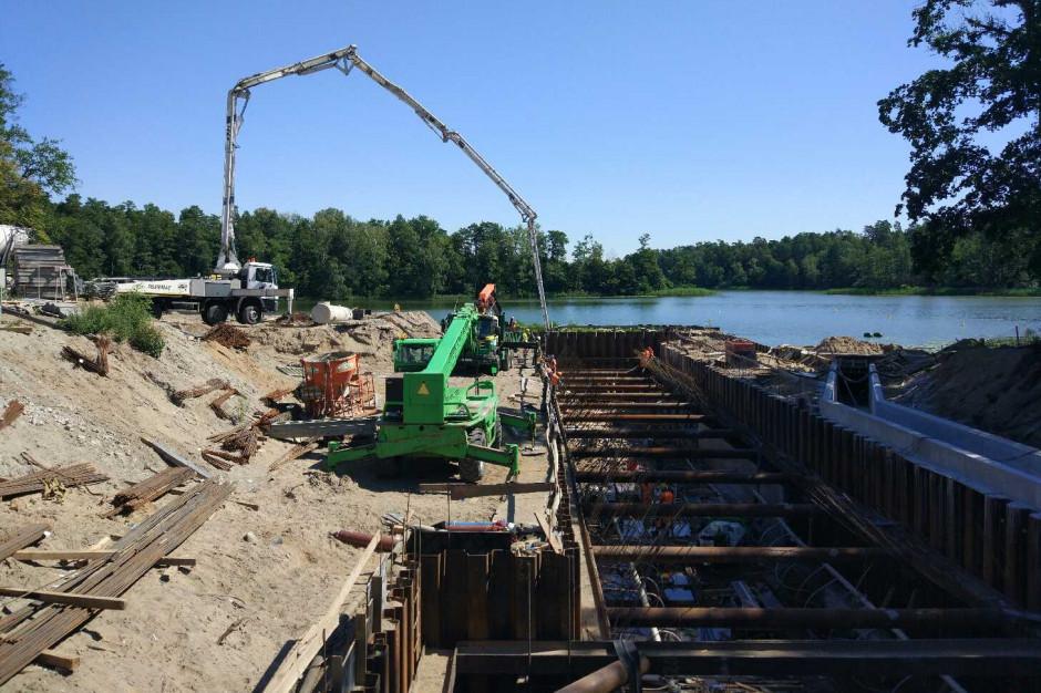 Budowa nowej śluzy Guzianka II na ukończeniu. Inwestycja ma odkorkować ruch na jeziorach