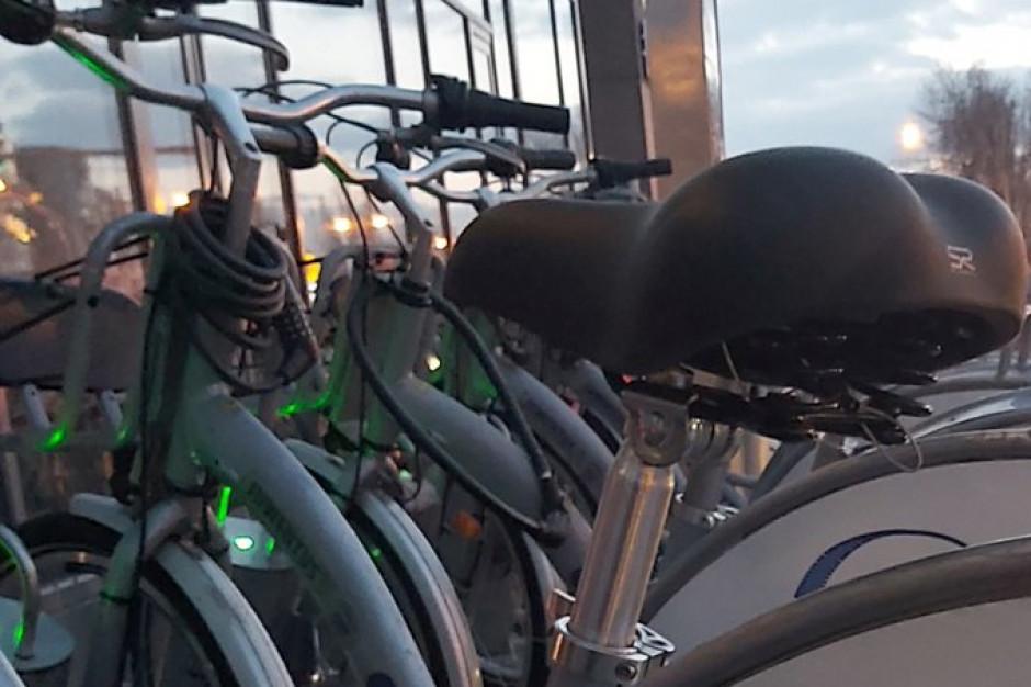 Rower miejski wjeżdża na Jurę
