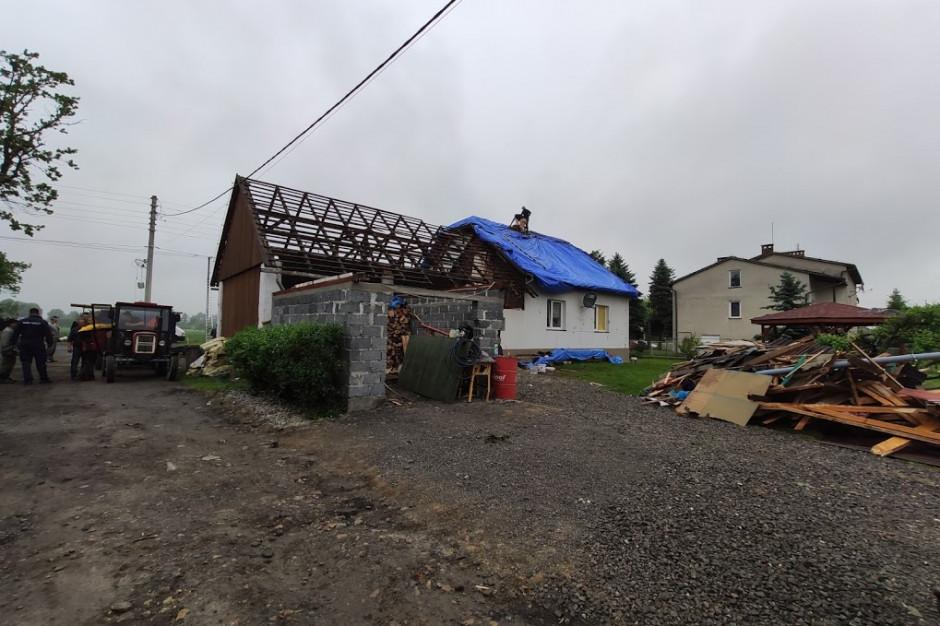 Kaniów: Część budynków została naprawiona po trąbie powietrznej