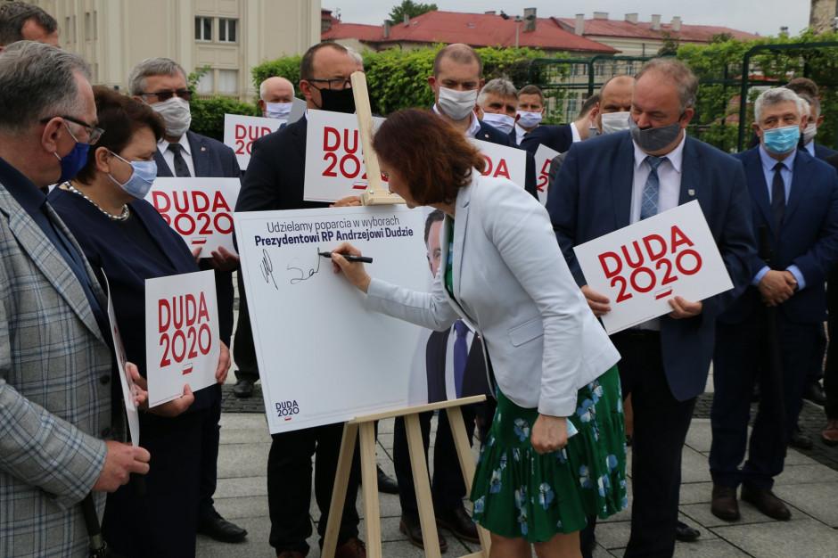 Władysław Ortyl i Ewa Leniart apelują o głosowanie na Andrzeja Dudę