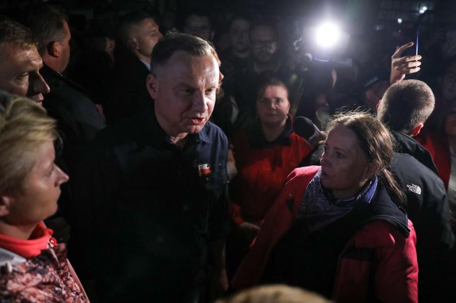 Prezydent w Łapanowie: zwrócę się do premiera, żeby przekazał tutaj środki