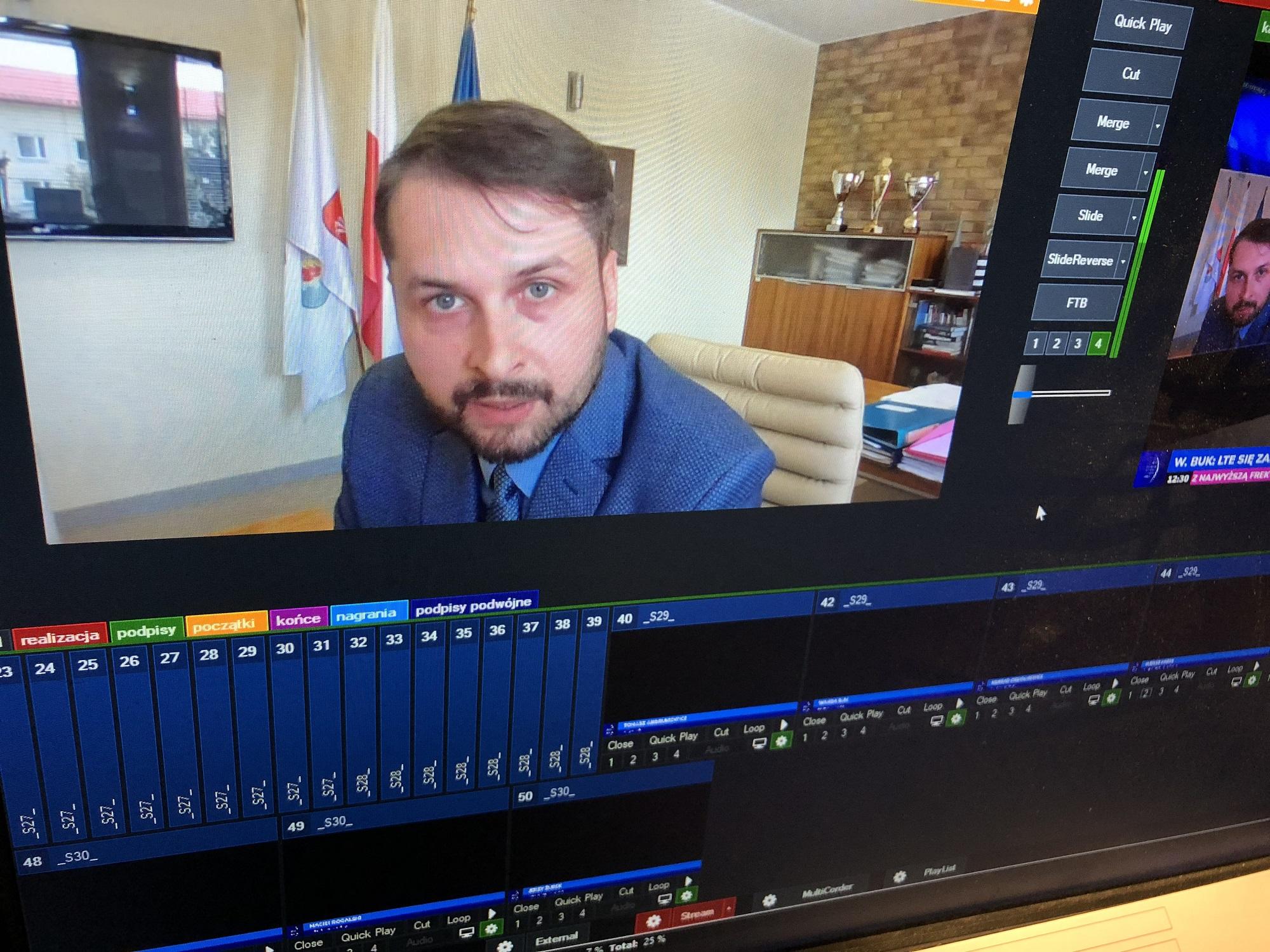 Łukasz Marek, wiceburmistrz gminy Wołomin (fot. PTWP)