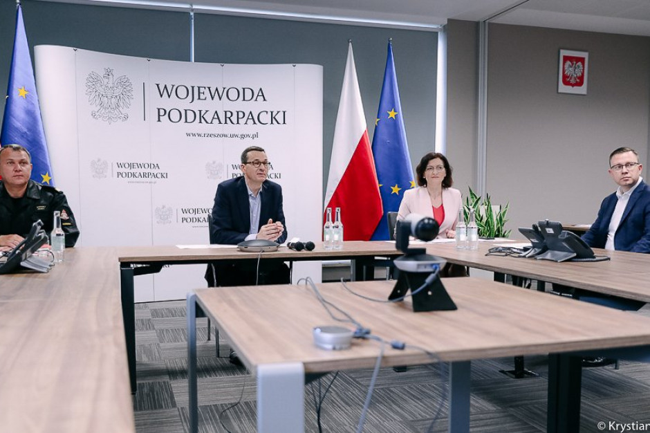 Premier po sztabie kryzysowym w Rzeszowie: Reakcja służb była właściwa