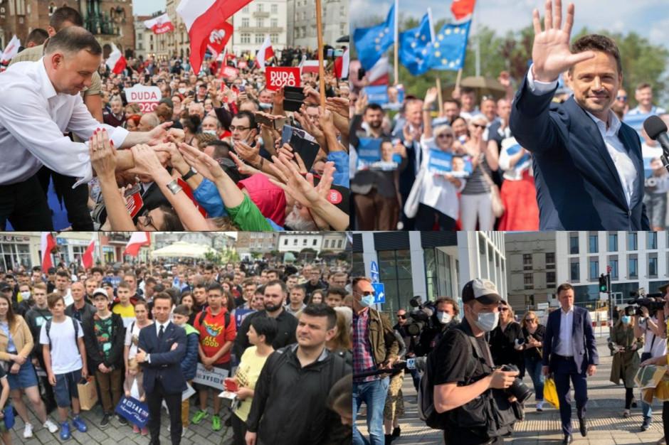 Poparcie kandydatów na prezydenta w powiatach i miastach na prawach powiatu