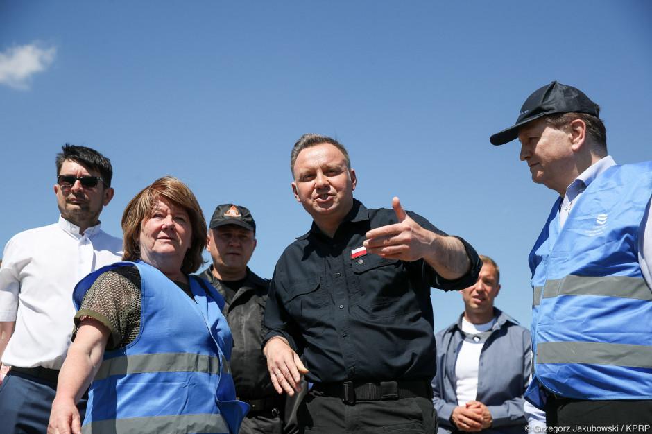 Prezydent: będziemy uruchamiać większą pomoc niż standardowo przewidziana na wypadek powodzi