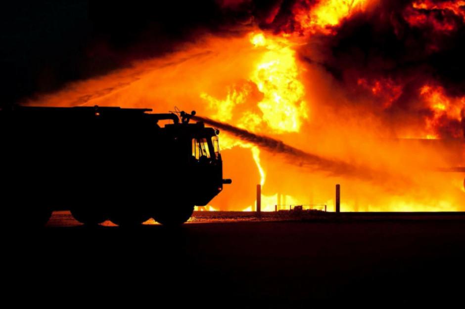 Opanowano pożar składowiska tworzyw sztucznych w Lisewie Kościelnym