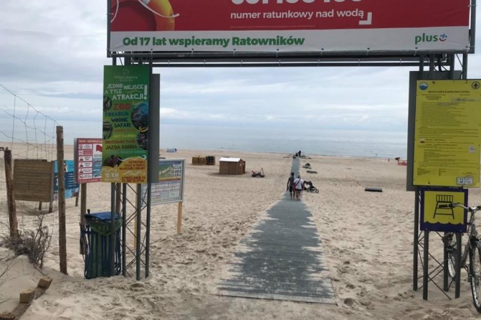 Ustka przygotowała plaże dla osób na wózkach