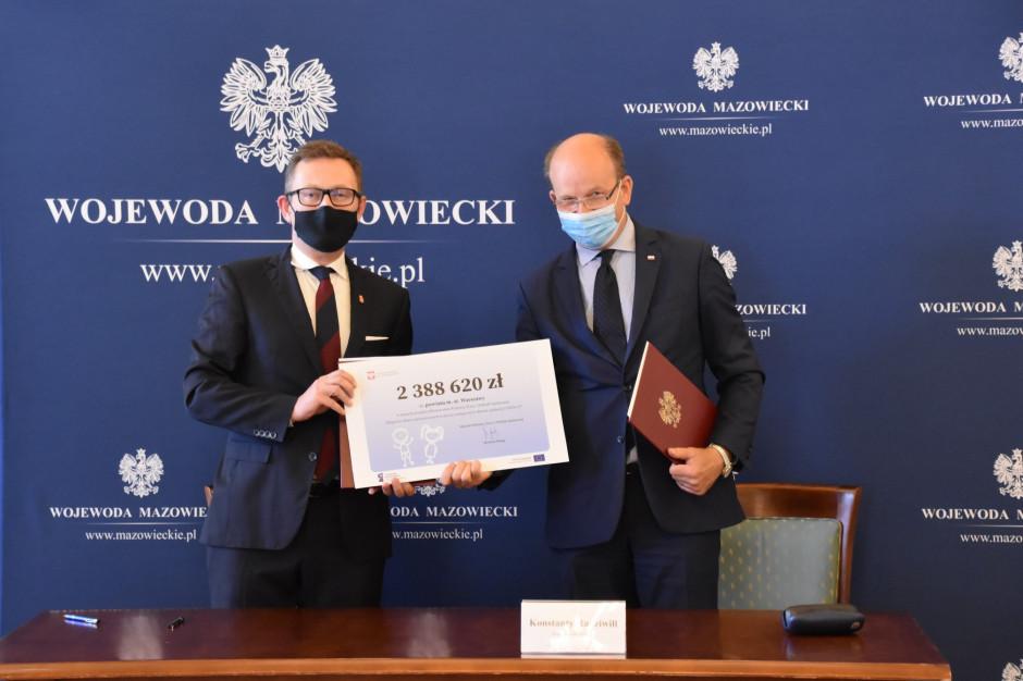Warszawa podpisała z Mazowieckim Urzędem Wojewódzkim umowę na 2,38 mln zł od MRPiPS