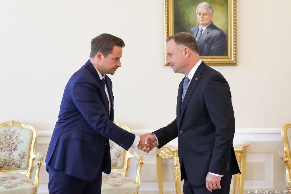 W Pałacu Prezydenckim spotkanie Andrzeja Dudy z Rafałem Trzaskowskim