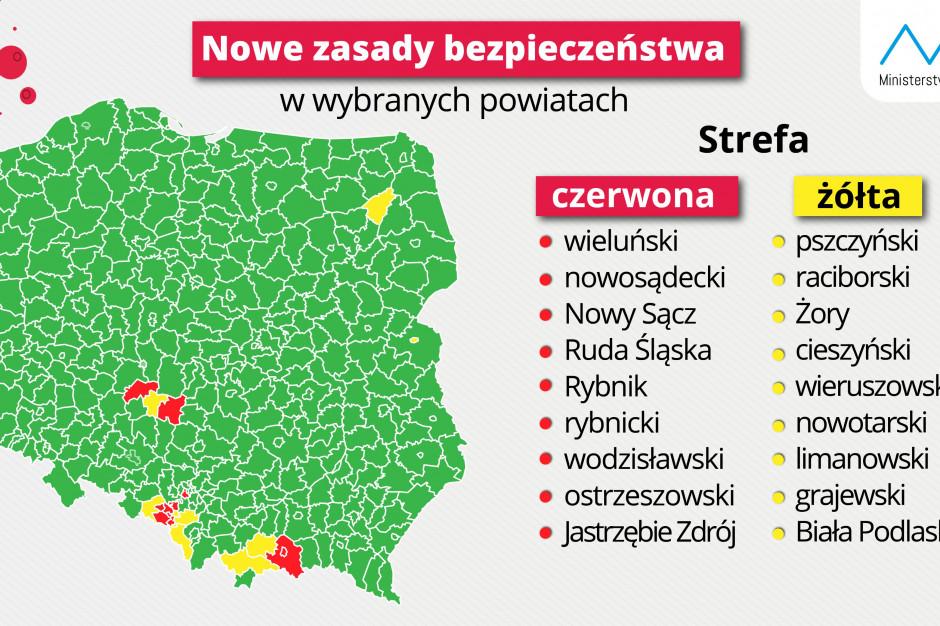 Nowy region na mapie obostrzeń. Powiat grajewski w żółtej strefie