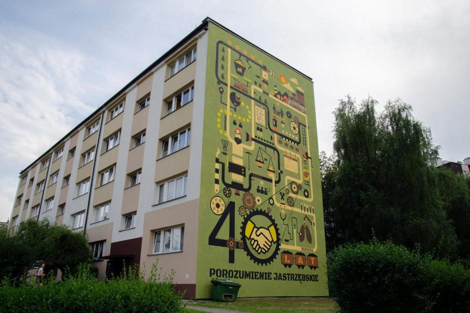 Powstał mural upamiętniający 40. rocznicę Porozumienia Jastrzębskiego