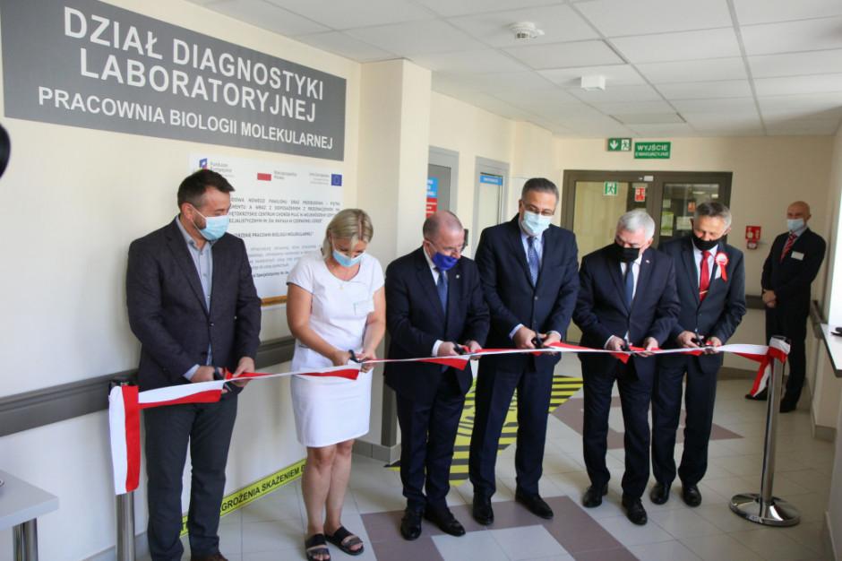 Laboratorium COVID otwarto w szpitalu w Czerwonej Górze