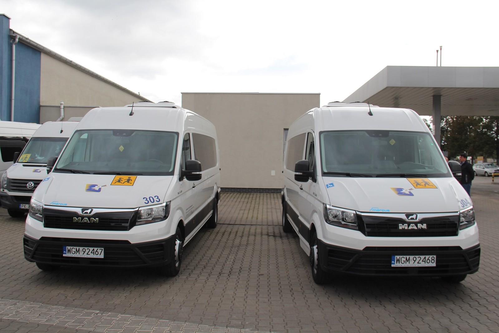 Kaliskie Linie Autobusowe kupiły dwa nowe busy do przewozu niepełnosprawnych dzieci do szkół (fot. kalisz.pl)