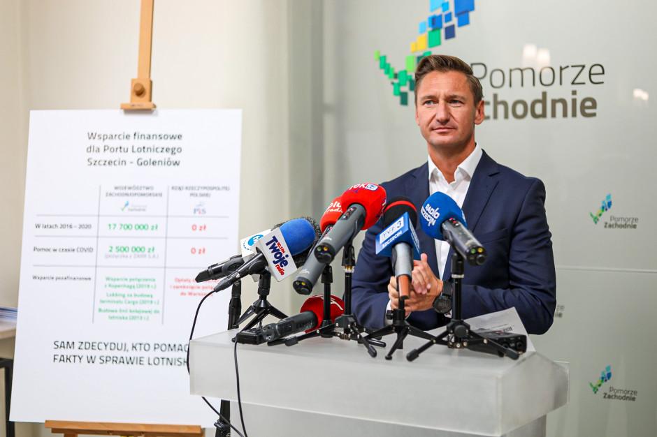 Marszałek Zachodniopomorskiego punktuje rząd. Chodzi o wsparcie lotniska