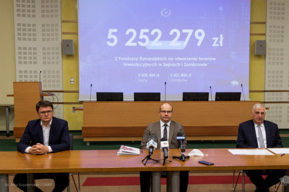 Podlaskie: 5,2 mln zł z UE na tereny inwestycyjne w Zambrowie i Sejnach