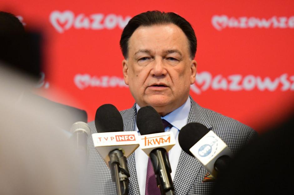 """Władze województwa zapowiadają referendum: """"Nie ma przesłanek, by dzielić Mazowsze"""""""