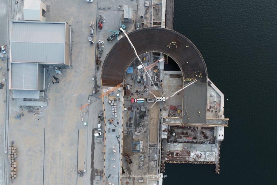 Budowa terminalu portowego w Gdyni weszła w kolejną fazę