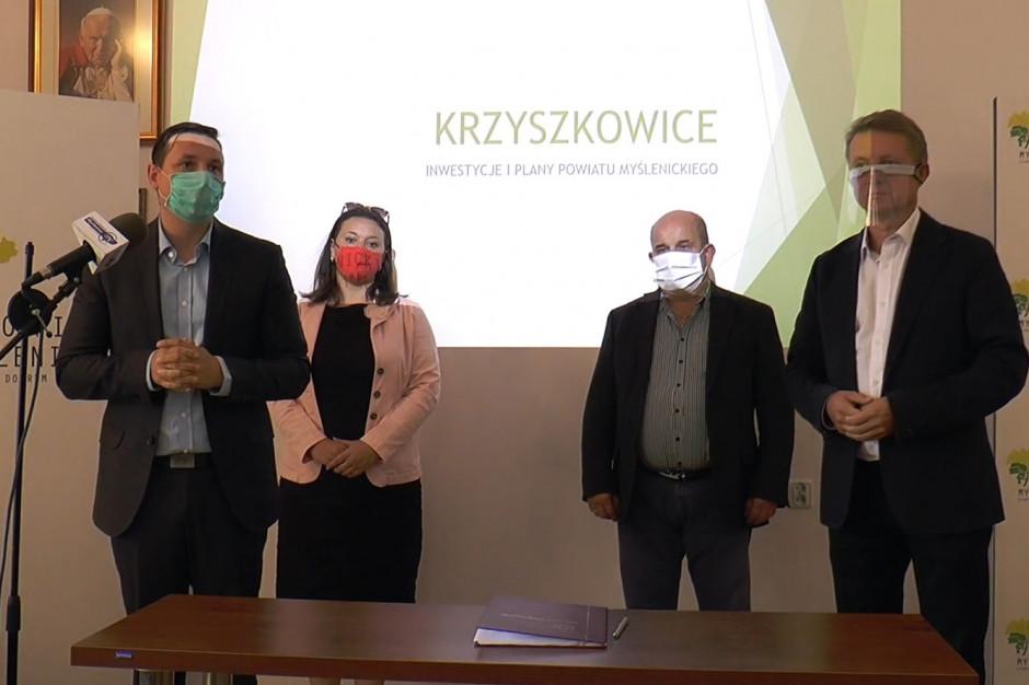 Powiat myślenicki dofinansuje budowę bezkolizyjnego węzła na Zakopiance
