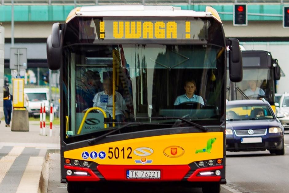 Kielce: Autobus komunikacji miejskiej ostrzelany z wiatrówki