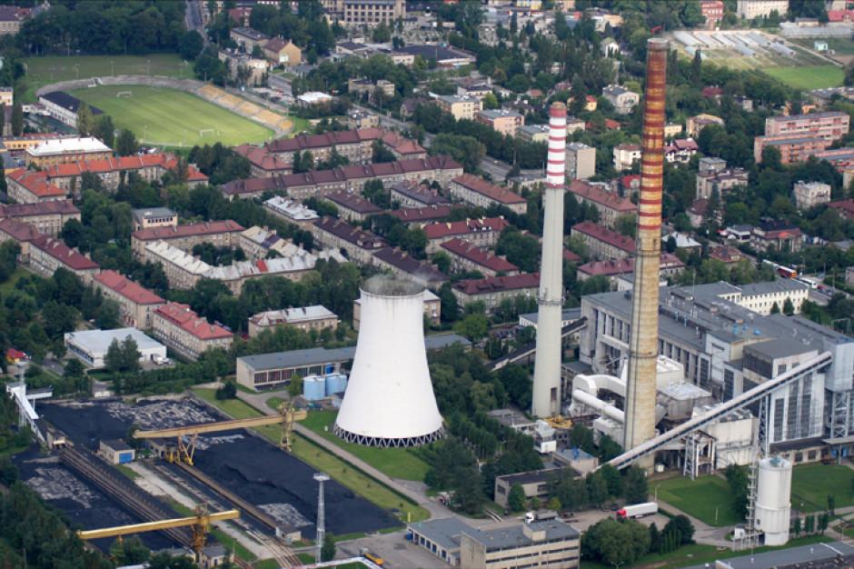 Pejzaż Bielska-Białej bez kominów starej elektrociepłowni