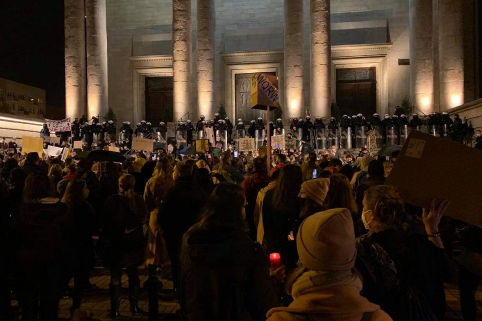 Katowice: Starcia z policją na demonstracji ws. aborcji