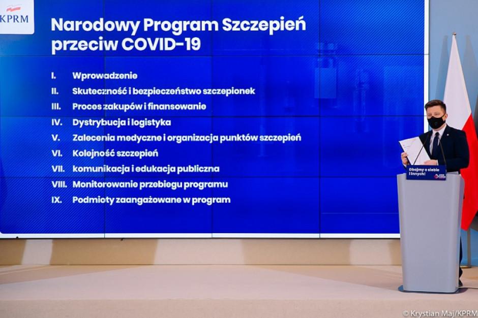 Szef KPRM: Szczepienia na koronawirusa mogą ruszyć po trzech dniach od wydania szczepionek