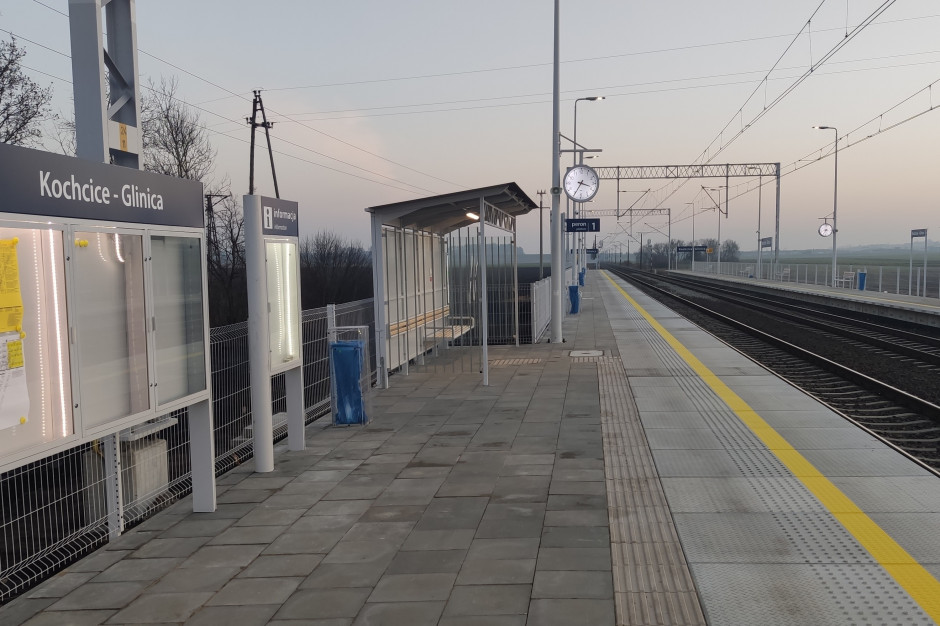 Nowy przystanek kolejowy Kochcice-Glinica