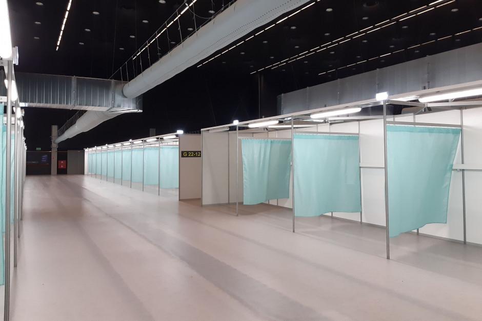 Szpitale tymczasowe w części województw są dopiero wyposażane w sprzęt