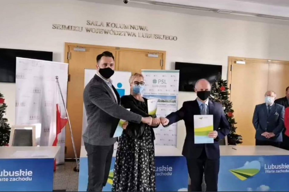 Lubuskie: Trzy kluby z sejmiku województwa zawarły porozumienie programowe