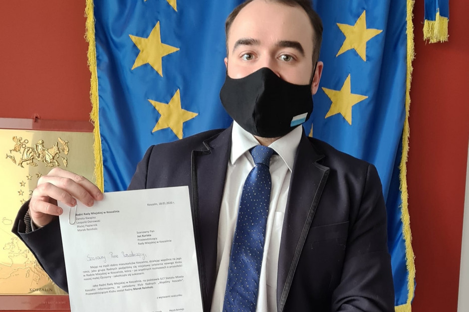 Koszalin: Byli radni klubu KO założyli nowy klub w Radzie Miasta