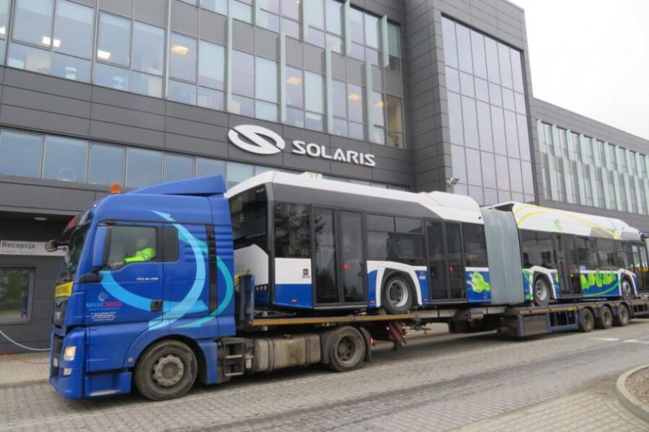Elektryczne Solarisy w drodze do Krakowa