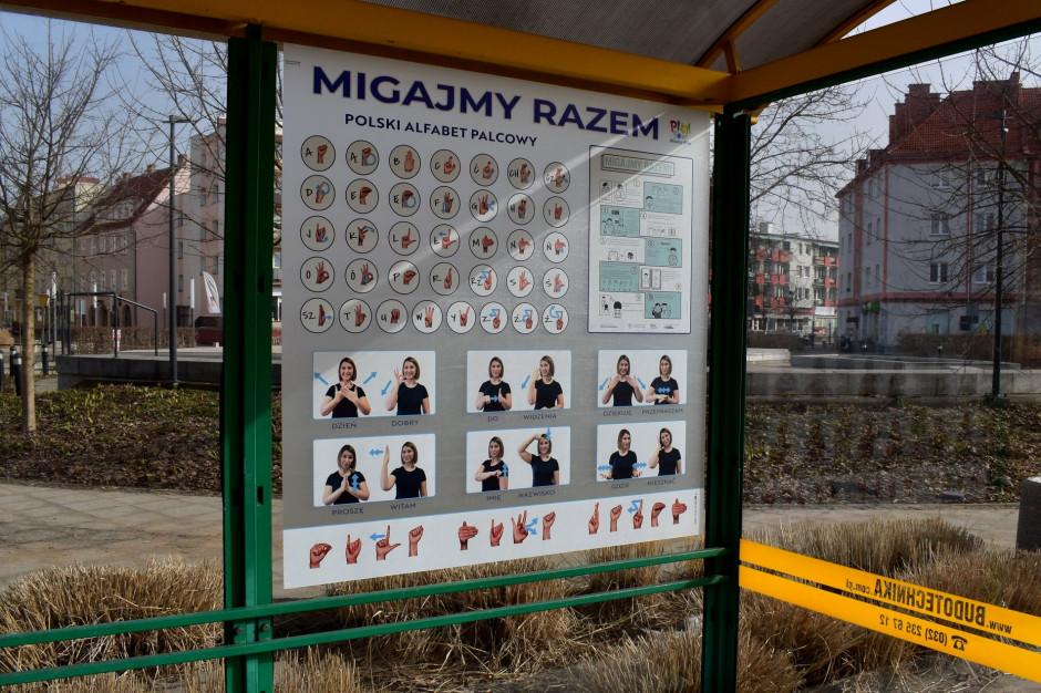 Piła uczy języka migowego na przystankach autobusowych