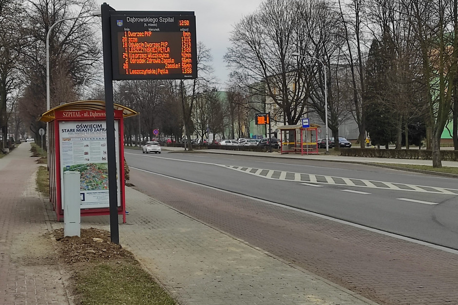 Oświęcim: Pierwsze tablice informacji pasażerskiej już działają