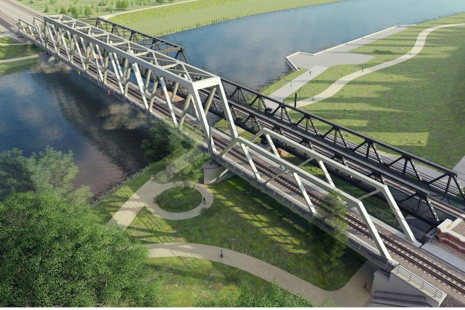 Opole: PKP rozpoczęła prace przy budowie nowego mostu nad Odrą