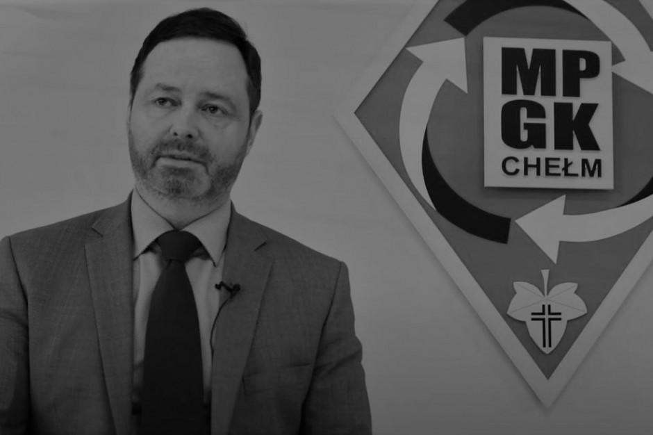 Zmarł Marcin Czarnecki, prezes Miejskiego Przedsiębiorstwa Gospodarki Komunalnej w Chełmie