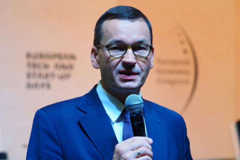 Morawiecki: program inwestycyjny nadbudowujemy na sile polskich finansów publicznych