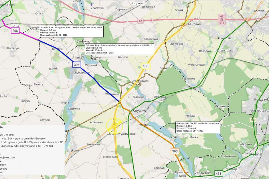 W Wielkopolsce zostanie rozbudowana droga 306 od Buku do drogi S5
