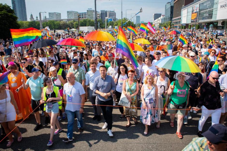Warszawa: Parada Równości z patronatem prezydenta Rafała Trzaskowskiego