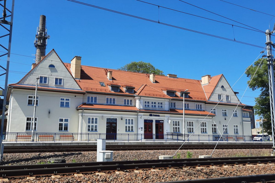 Dworzec kolejowy w Prabutach otwarty po przebudowie