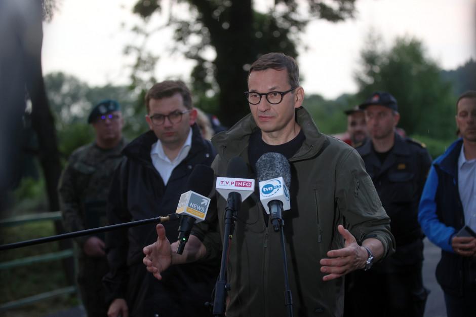 Premier: sytuacja w Dobczycach będzie opanowana