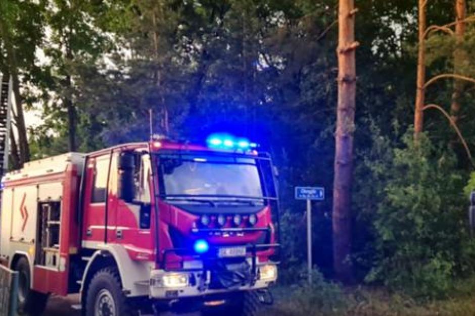 Ponad 100 interwencji strażaków w związku z obfitymi opadami i wiatrem