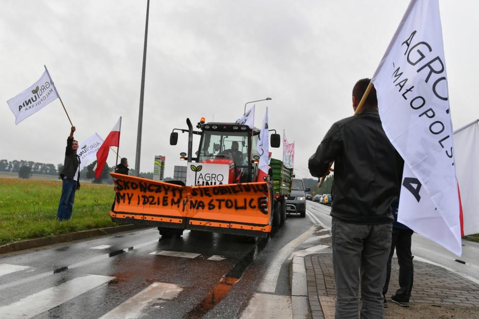 Utrudnienia na DK 12. Trwa protest Agrounii