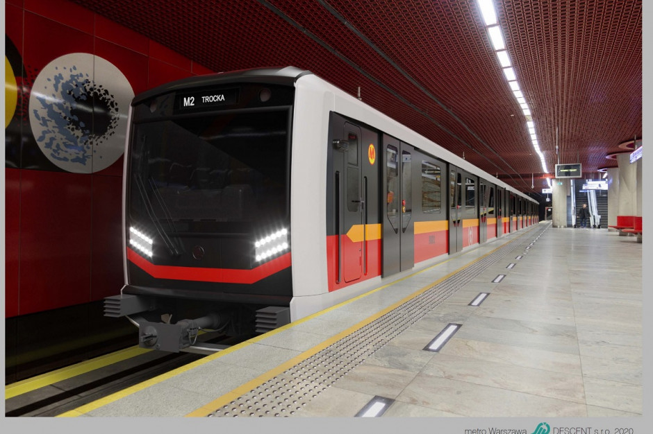 Tak będą wyglądały nowe pociągi warszawskiego metra