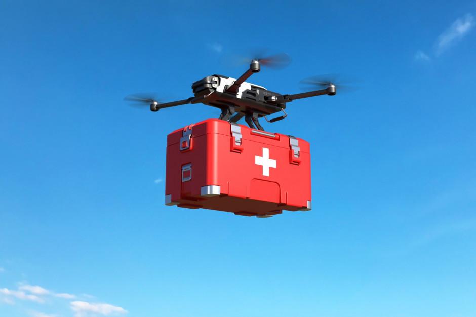 W śląskim przetestują automatyczny transport medyczny dronem