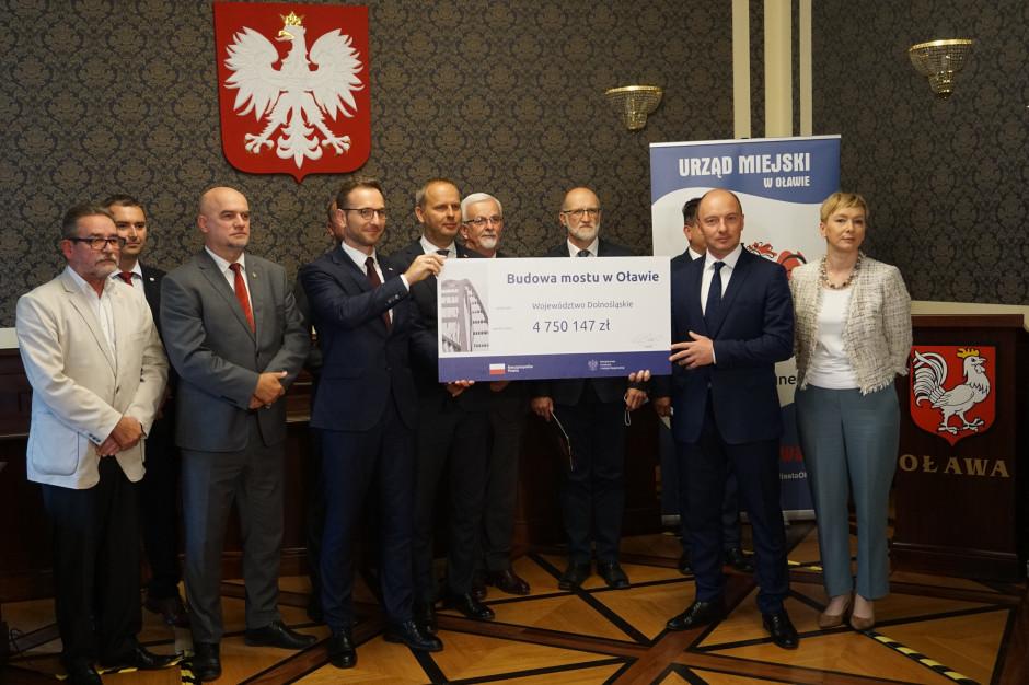 4,7 mln zł z budżetu państwa na projekt nowego mostu w Oławie