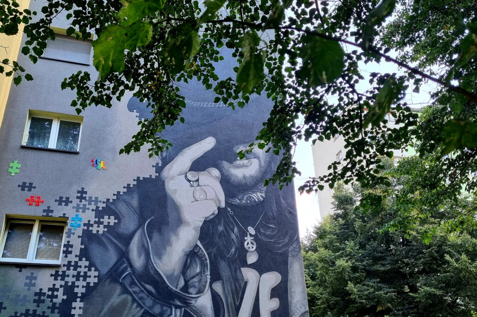 W Tychach odsłonięto mural upamiętniający Ryszarda Riedla