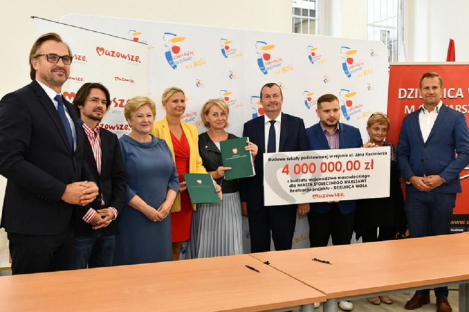 Inwestycje w warszawskich dzielnicach ze wsparciem finansowym województwa